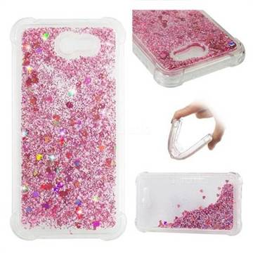 Dynamic Liquid Glitter Sand Quicksand Star TPU Case for Samsung Galaxy J7 2017 Halo US Edition - Diamond Rose