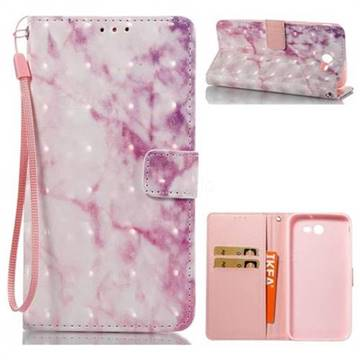 Pink Marble 3D Painted Leather Wallet Case for Samsung Galaxy J7 2017 Halo