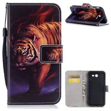 Mighty Tiger PU Leather Wallet Case for Samsung Galaxy J7 2017 Halo US Edition