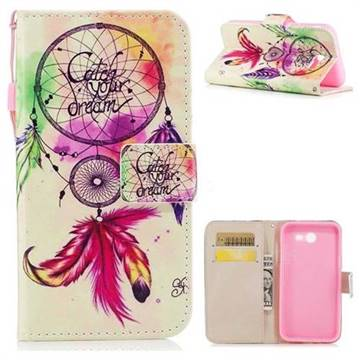 Feather Wind Chimes PU Leather Wallet Case for Samsung Galaxy J7 2017 Halo US Edition