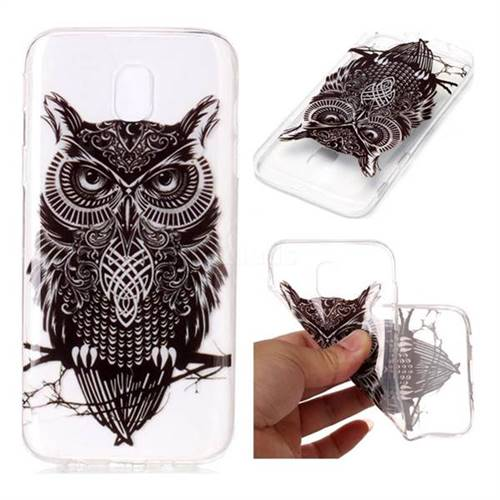 Staring Owl Super Clear Soft TPU Back Cover for Samsung Galaxy J7 2017 J730 Eurasian