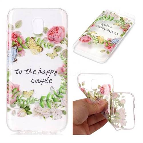 Green Leaf Rose Super Clear Soft TPU Back Cover for Samsung Galaxy J7 2017 J730 Eurasian