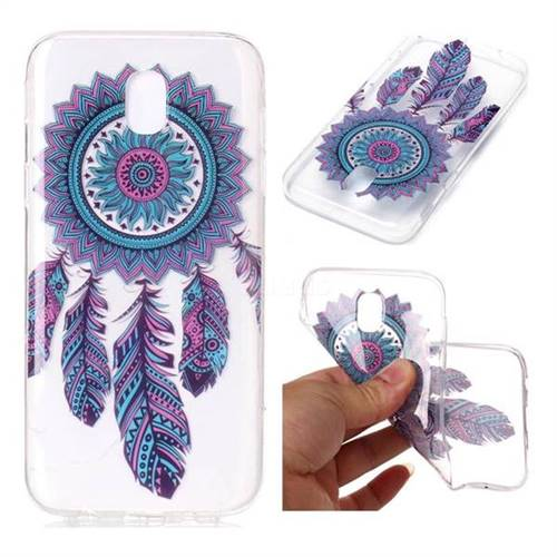 Blue Wind Chimes Super Clear Soft TPU Back Cover for Samsung Galaxy J7 2017 J730 Eurasian