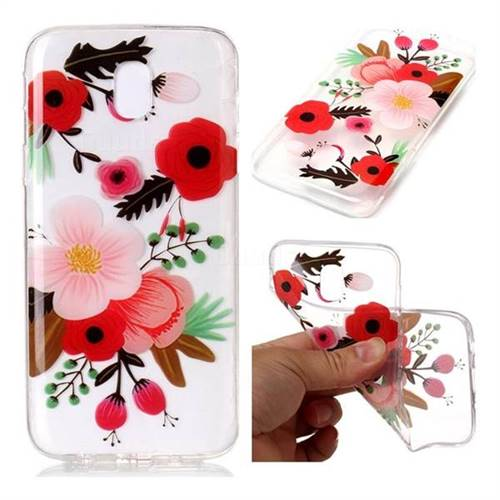 Painting Flowers Super Clear Soft TPU Back Cover for Samsung Galaxy J7 2017 J730 Eurasian
