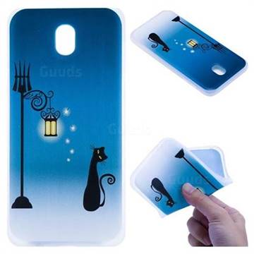 Street Light Cat 3D Relief Matte Soft TPU Back Cover for Samsung Galaxy J7 2017 J730 Eurasian