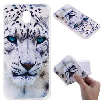 White Leopard 3D Relief Matte Soft TPU Back Cover for Samsung Galaxy J7 2017 J730 Eurasian