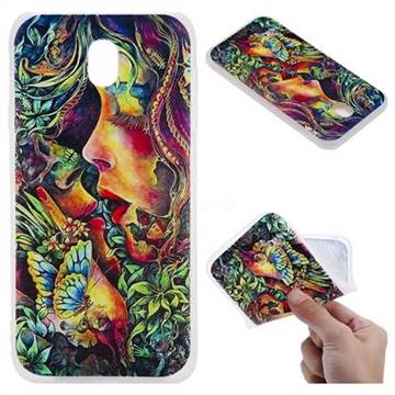 Butterfly Kiss 3D Relief Matte Soft TPU Back Cover for Samsung Galaxy J7 2017 J730 Eurasian