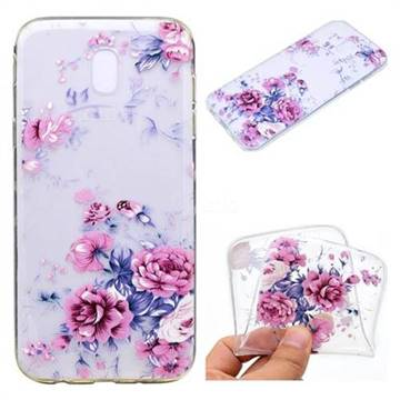 Peony Super Clear Soft TPU Back Cover for Samsung Galaxy J7 2017 J730 Eurasian