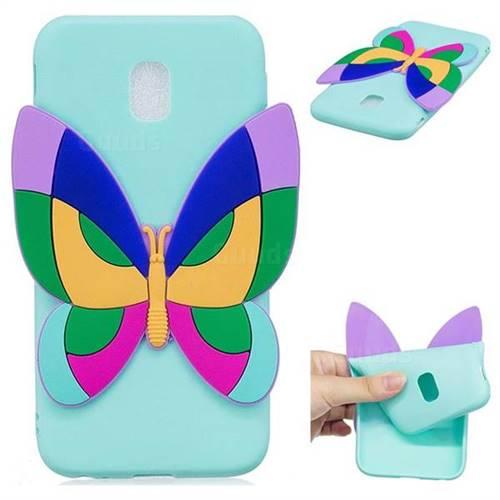 Rainbow Butterfly Soft 3D Silicone Case for Samsung Galaxy J7 2017 J730 Eurasian