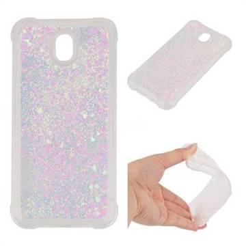 Dynamic Liquid Glitter Sand Quicksand Star TPU Case for Samsung Galaxy J7 2017 J730 Eurasian - Pink