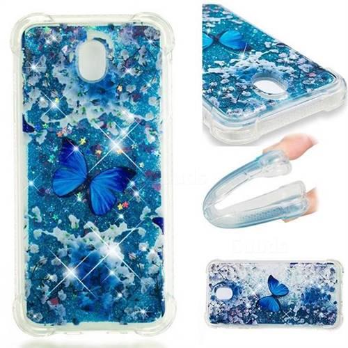 Flower Butterfly Dynamic Liquid Glitter Sand Quicksand Star TPU Case for Samsung Galaxy J7 2017 J730 Eurasian
