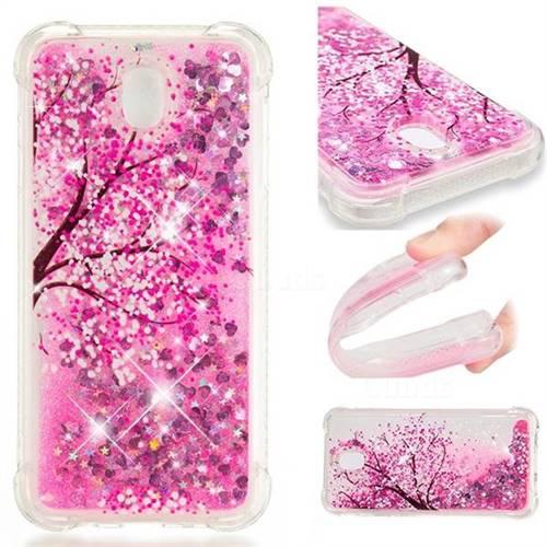 Pink Cherry Blossom Dynamic Liquid Glitter Sand Quicksand Star TPU Case for Samsung Galaxy J7 2017 J730 Eurasian