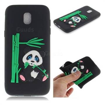Panda Eating Bamboo Soft 3D Silicone Case for Samsung Galaxy J7 2017 J730 Eurasian - Black