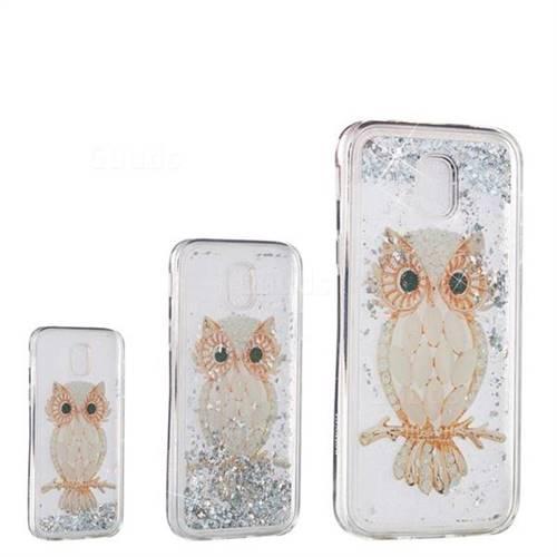 Seashell Owl Dynamic Liquid Glitter Quicksand Soft TPU Case for Samsung Galaxy J7 2017 J730 Eurasian