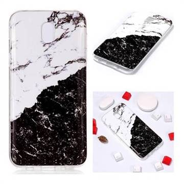 Black and White Soft TPU Marble Pattern Phone Case for Samsung Galaxy J7 2017 J730 Eurasian