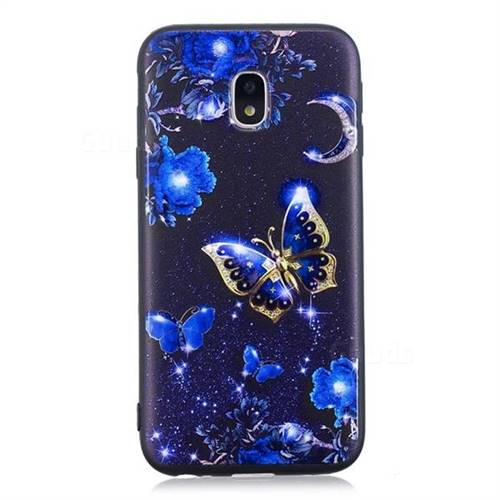 hot sales d4adf 347d0 Phnom Penh Butterfly 3D Embossed Relief Black TPU Cell Phone Back Cover for  Samsung Galaxy J7 2017 J730 Eurasian