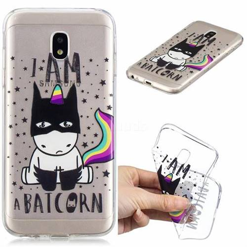 Batman Clear Varnish Soft Phone Back Cover for Samsung Galaxy J7 2017 J730 Eurasian