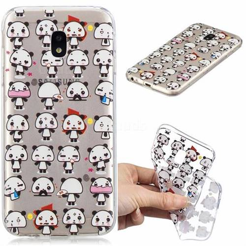 Mini Panda Clear Varnish Soft Phone Back Cover for Samsung Galaxy J7 2017 J730 Eurasian