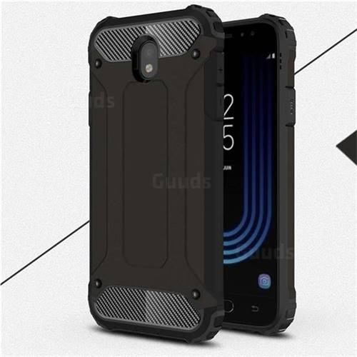 King Kong Armor Premium Shockproof Dual Layer Rugged Hard Cover for Samsung Galaxy J7 2017 J730 Eurasian - Black Gold
