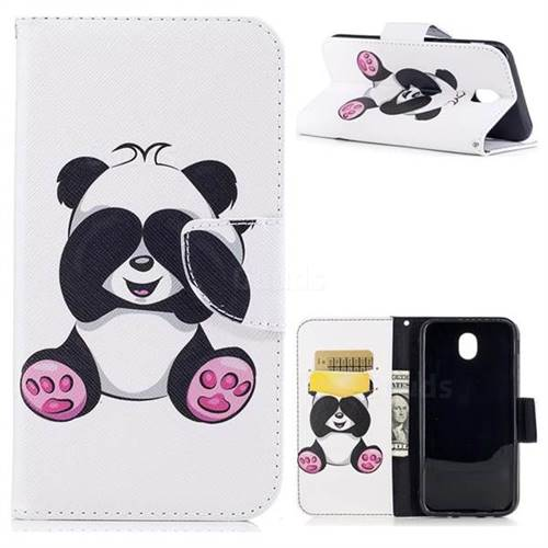 Lovely Panda Leather Wallet Case for Samsung Galaxy J7 2017 J730