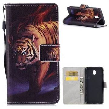 Mighty Tiger PU Leather Wallet Case for Samsung Galaxy J7 2017 J730 Eurasian