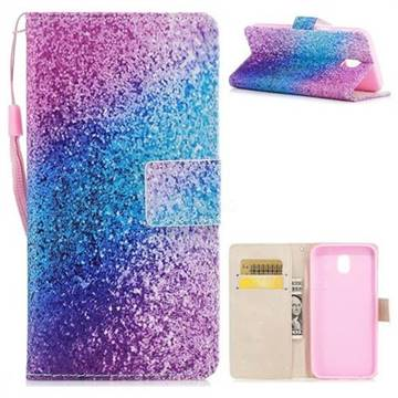 Rainbow Sand PU Leather Wallet Case for Samsung Galaxy J7 2017 J730 Eurasian