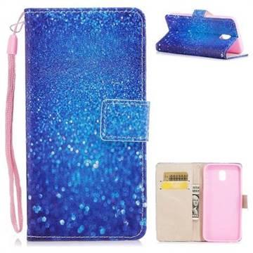Blue Powder PU Leather Wallet Case for Samsung Galaxy J7 2017 J730 Eurasian