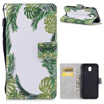 Green Leaves PU Leather Wallet Case for Samsung Galaxy J7 2017 J730 Eurasian