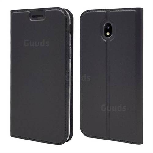 Ultra Slim Card Magnetic Automatic Suction Leather Wallet Case for Samsung Galaxy J7 2017 J730 Eurasian - Star Grey