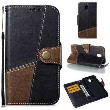 Retro Magnetic Stitching Wallet Flip Cover for Samsung Galaxy J7 2017 J730 Eurasian - Dark Gray