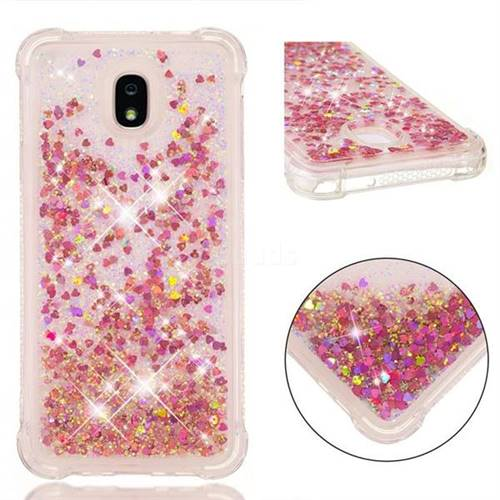 new product 0f666 5a310 Dynamic Liquid Glitter Sand Quicksand TPU Case for Samsung Galaxy J7 (2018)  - Rose Gold Love Heart