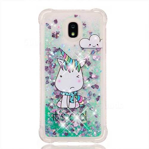 d25cad8ae1 Tiny Unicorn Dynamic Liquid Glitter Sand Quicksand Star TPU Case for  Samsung Galaxy J7 (2018