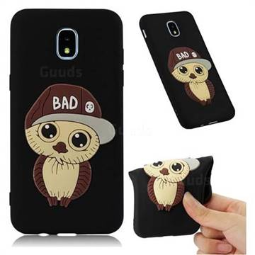 Bad Boy Owl Soft 3D Silicone Case for Samsung Galaxy J7 (2018) - Black