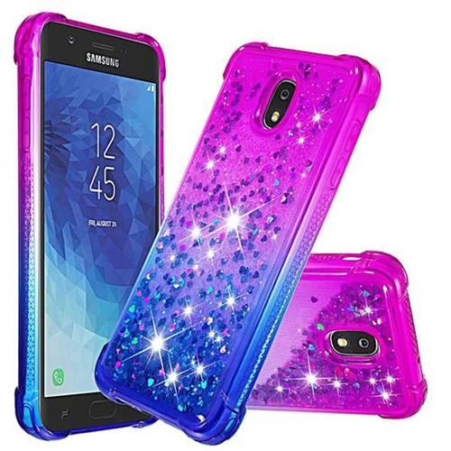 pretty nice 88cc7 03725 Rainbow Gradient Liquid Glitter Quicksand Sequins Phone Case for Samsung  Galaxy J7 (2018) - Purple Blue