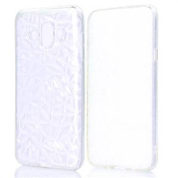 Diamond Pattern Shining Soft TPU Phone Back Cover for Samsung Galaxy J7 Duo - Transparent