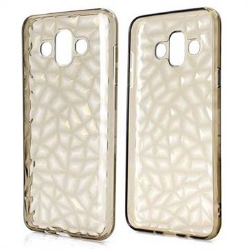 Diamond Pattern Shining Soft TPU Phone Back Cover for Samsung Galaxy J7 Duo - Gray