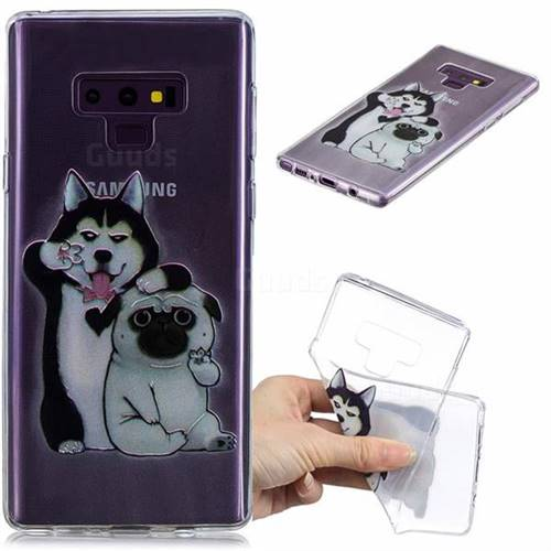 Selfie Dog Clear Varnish Soft Phone Back Cover for Samsung Galaxy J7 Duo