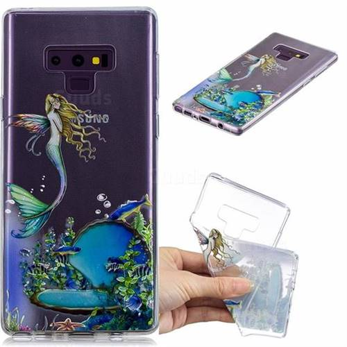 Mermaid Clear Varnish Soft Phone Back Cover for Samsung Galaxy J7 Duo