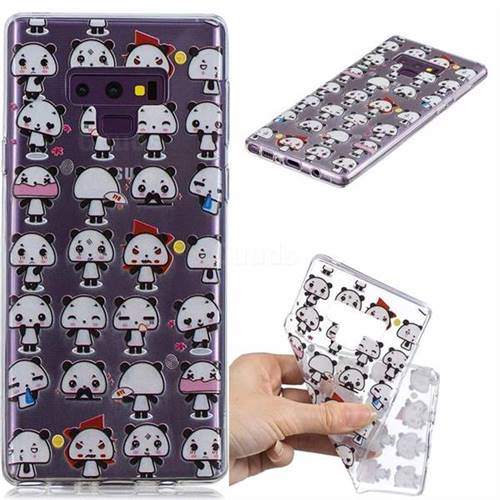 Mini Panda Clear Varnish Soft Phone Back Cover for Samsung Galaxy J7 Duo