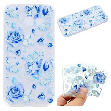 Ice Rose Super Clear Soft TPU Back Cover for Samsung Galaxy J7 Prime G610