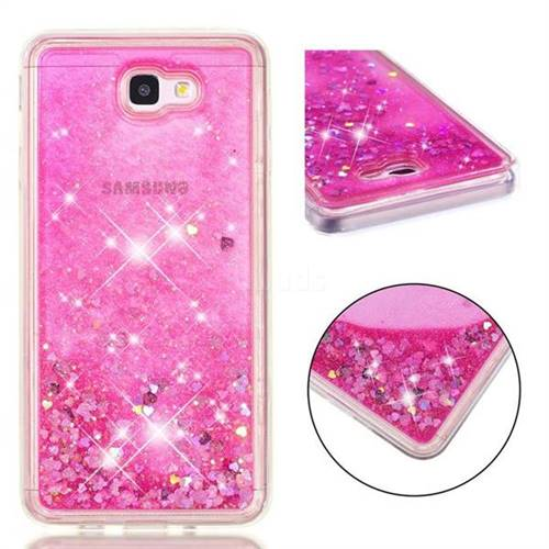 premium selection b32de fb28f Dynamic Liquid Glitter Quicksand Sequins TPU Phone Case for Samsung Galaxy  J7 Prime G610 - Rose