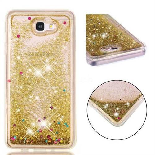 1322c46d3c Dynamic Liquid Glitter Quicksand Sequins TPU Phone Case for Samsung Galaxy  J7 Prime G610 - Golden