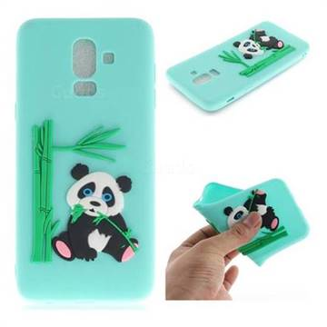 new style a0825 0a234 Panda Eating Bamboo Soft 3D Silicone Case for Samsung Galaxy J8 - Green