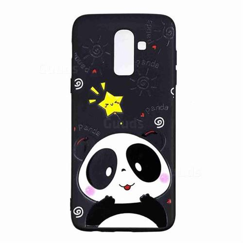 low priced a9c86 1acad Cute Bear 3D Embossed Relief Black TPU Cell Phone Back Cover for Samsung  Galaxy J8