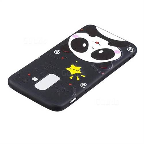 low priced 47c4f 673ac Cute Bear 3D Embossed Relief Black TPU Cell Phone Back Cover for Samsung  Galaxy J8