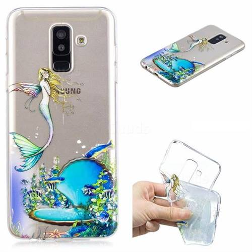 Mermaid Clear Varnish Soft Phone Back Cover for Samsung Galaxy J8