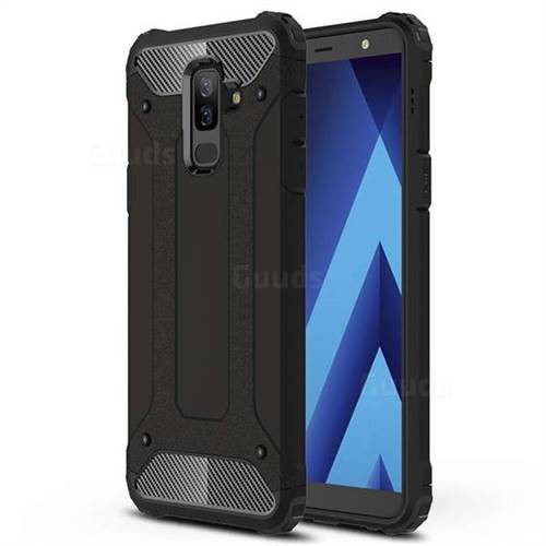 King Kong Armor Premium Shockproof Dual Layer Rugged Hard Cover for Samsung Galaxy J8 - Black Gold