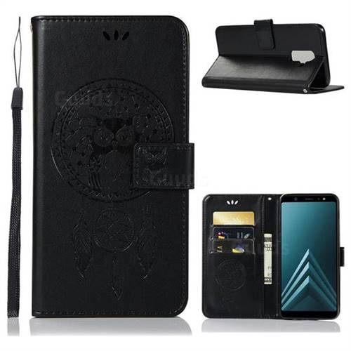 finest selection 8fb24 240c8 Intricate Embossing Owl Campanula Leather Wallet Case for Samsung Galaxy J8  - Black