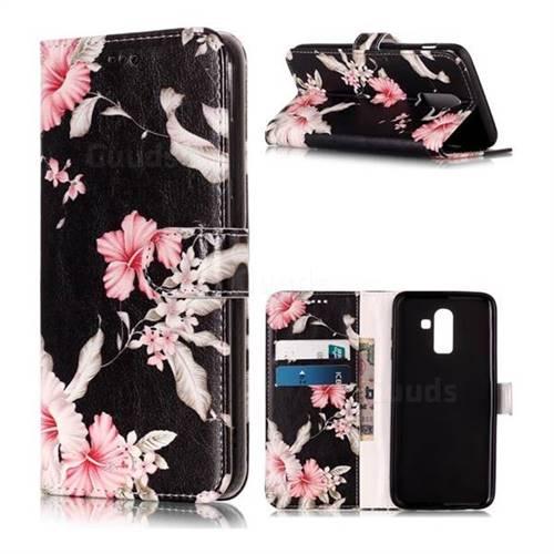 Azalea Flower PU Leather Wallet Case for Samsung Galaxy J8
