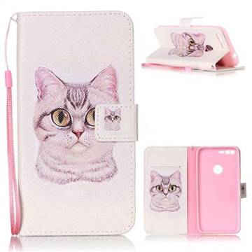Lovely Cat Leather Wallet Phone Case for Google Pixel